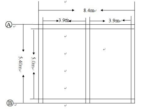 标准化羊舍青贮窖平面图